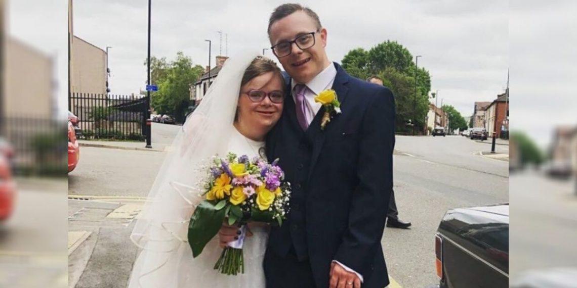 Pareja con síndrome de Down Heidi Crowter y James Carter