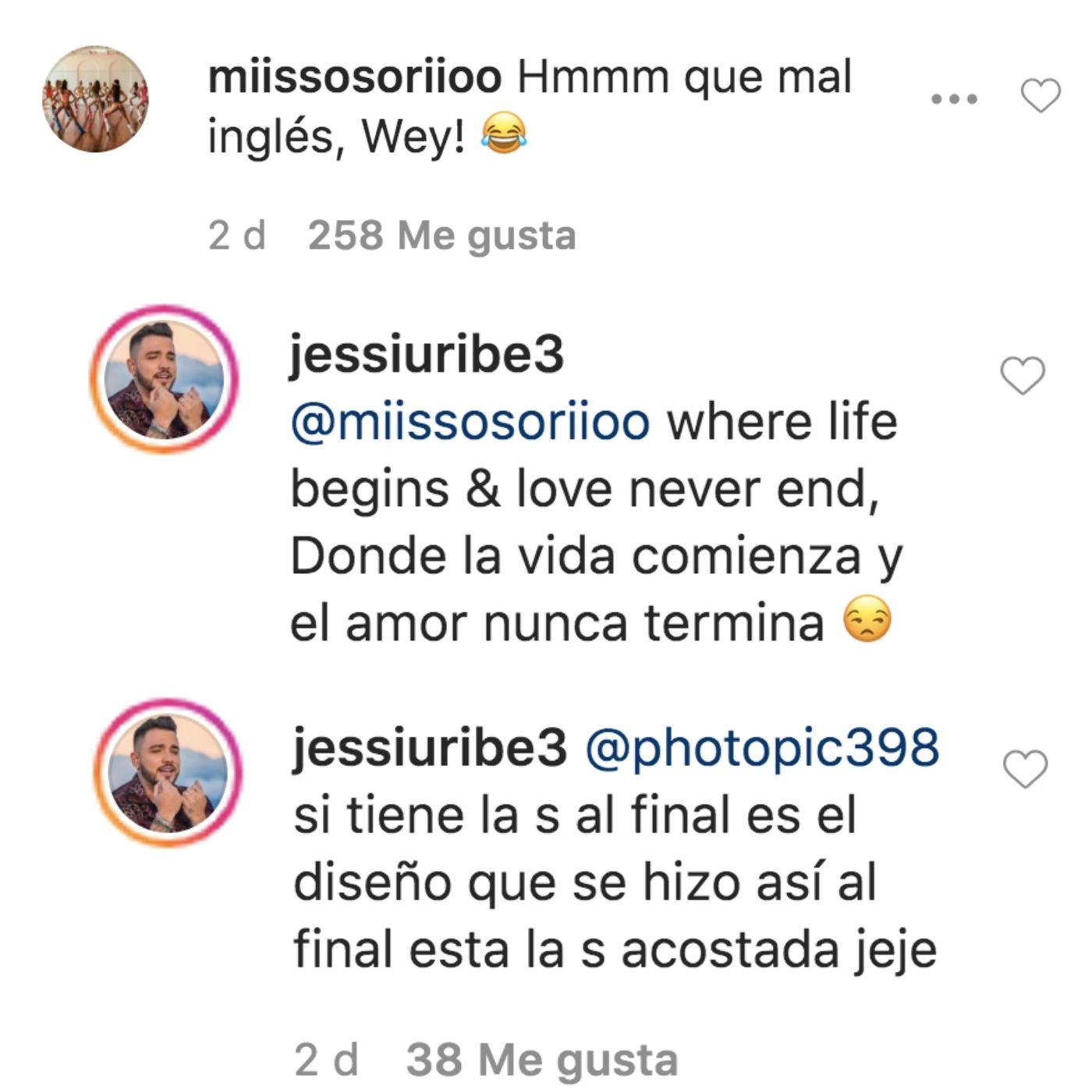 Respuesta de Jessi Uribe al error de su tatuaje