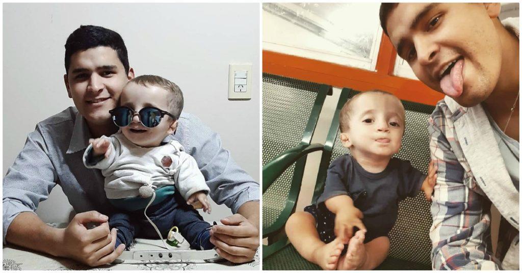 Valentino, el bebé con una rara enfermedad que conmueve las redes con su sonrisa