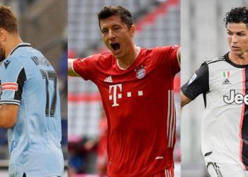 Immobile, Lewandowski y Cristiano, la lucha por la Bota de Oro