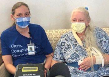 Enfermera se reencuentra con su hermana