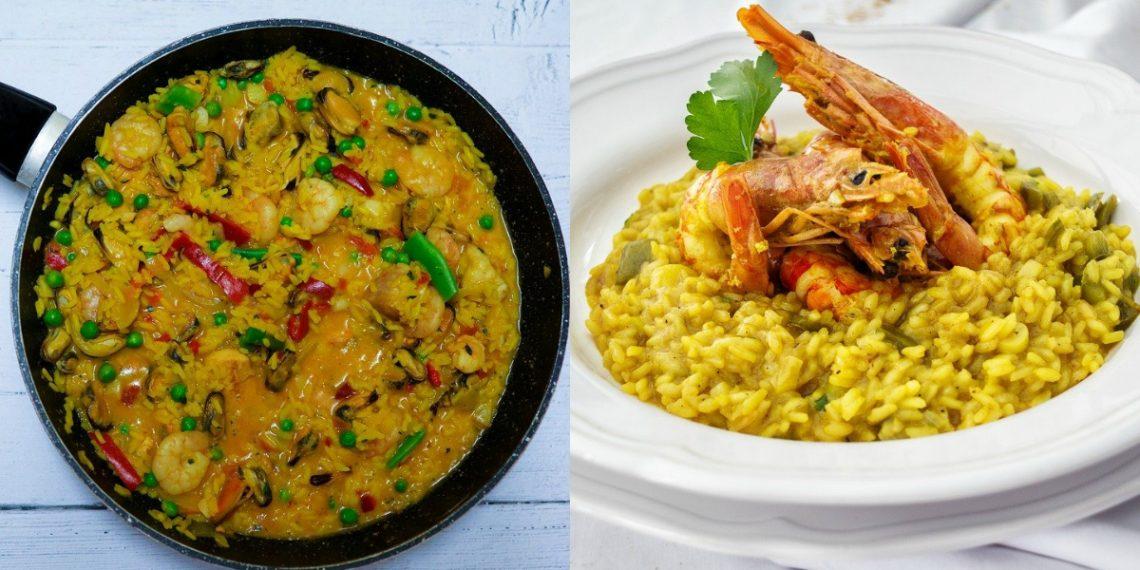 Preparar receta de arroz con camarones