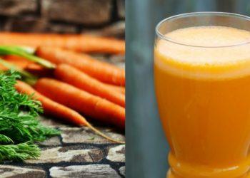 Batido de zanahoria nutritivo