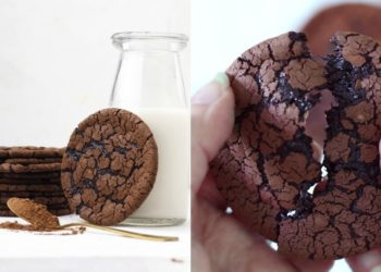 Receta de galletas de brownie sin huevo