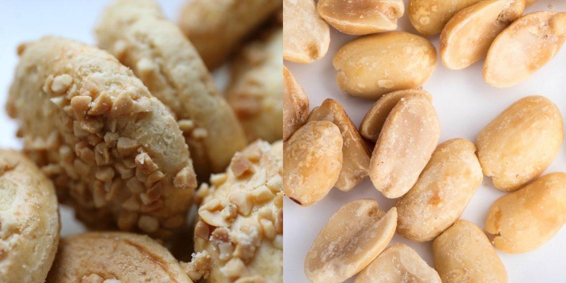 Galletas de cacahuate, maní y mantequilla de maní