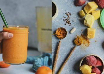 Licuado o jugo de mango con cúrcuma y vitamina C