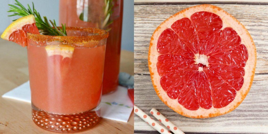 Bebida o jugo de toronja (pomelo)