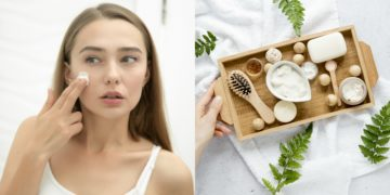 Tratamiento facial y de piel con mascarilla de leche