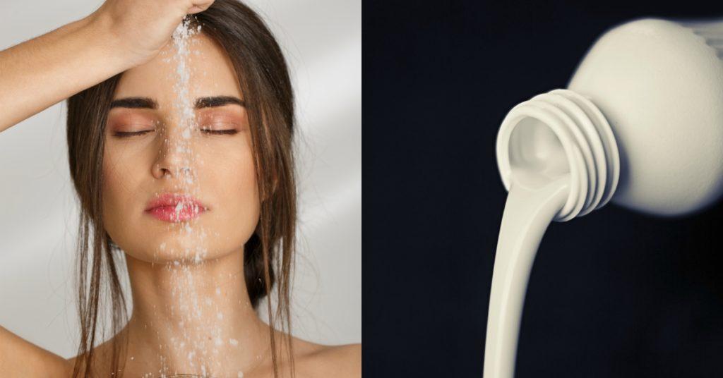 Leche y azúcar para hacer tratamiento facial