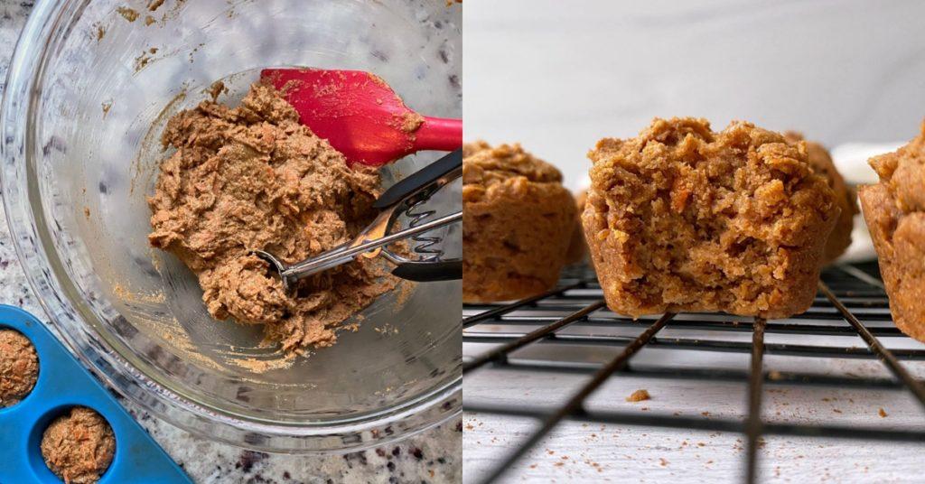 Preparación de los muffins de zanahoria