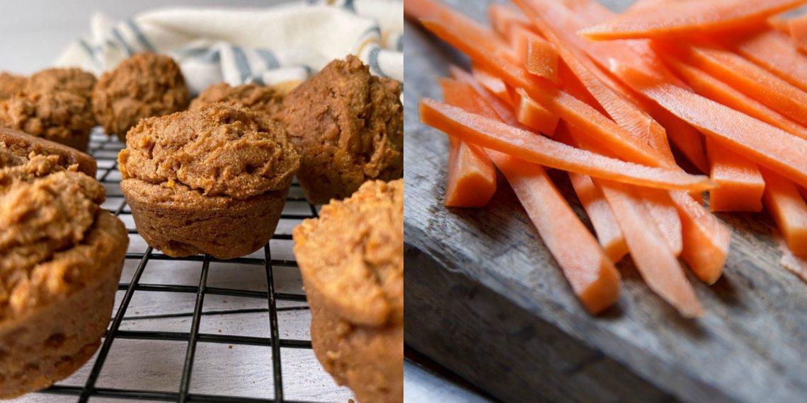 Mini muffins de zanahoria