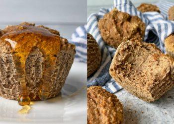 Receta de muffins de canela, manzana y banana
