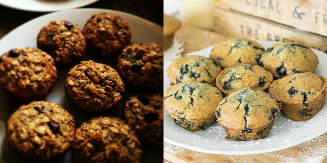 Hacer receta de muffins de avena