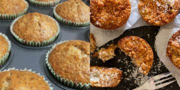 Receta de muffins de quinoa con banana sin leche