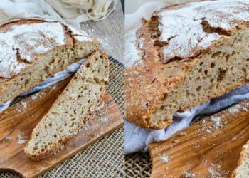 Receta para hacer pan de hogaza integral con masa madre