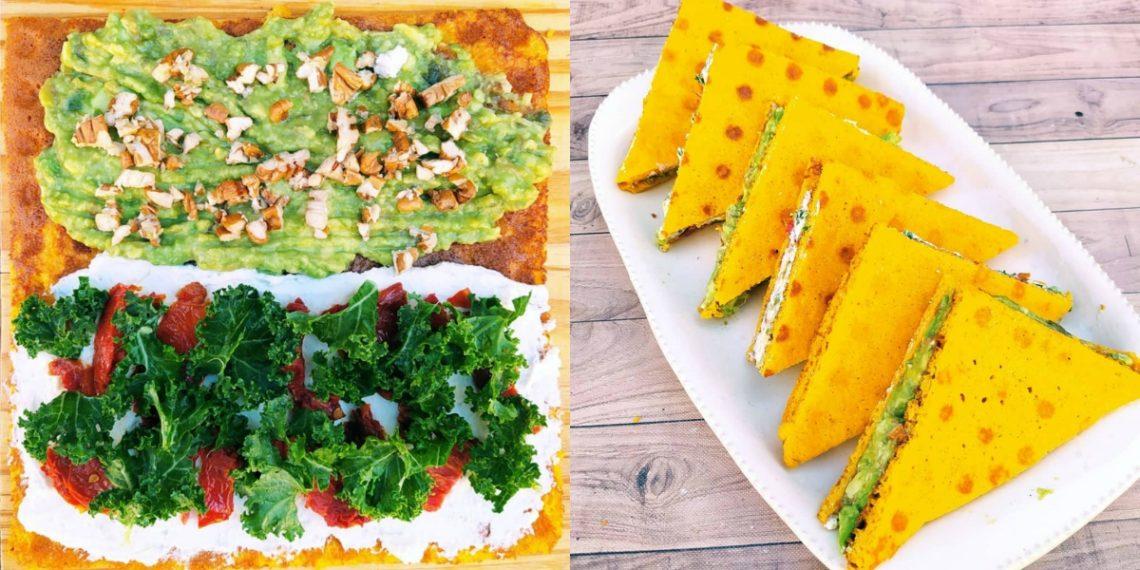 Pan fitness de zanahoria para sándwich