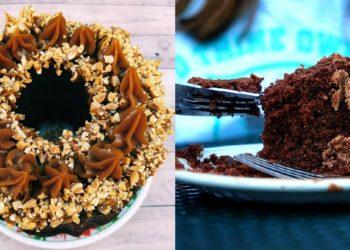 Receta de pastel de chocolate sin harina refinada (harina de avena)