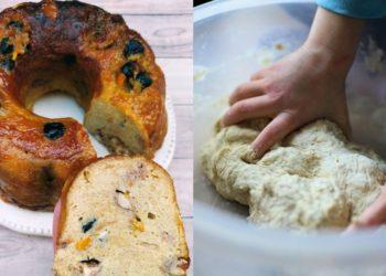 Receta de budín o pastel de pan sin horno