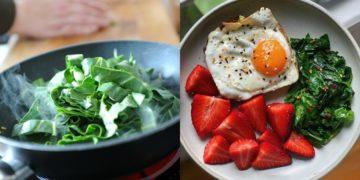 Recetas con espinacas frescas