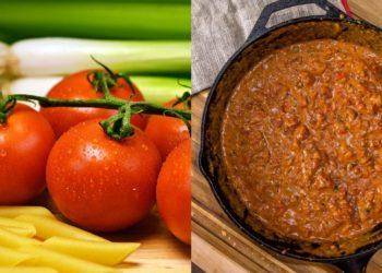 Salsa para pasta de tomate
