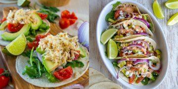 Hacer tacos mexicanos saludables y caseros