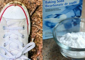 Bicarbonato, pasta dental y agua oxigenada para limpiar los zapatos o tenis blancos