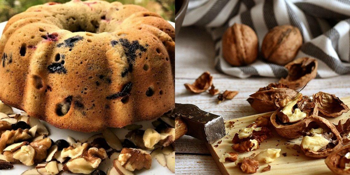 Pastel o torta de frutas saludable sin harina refinada