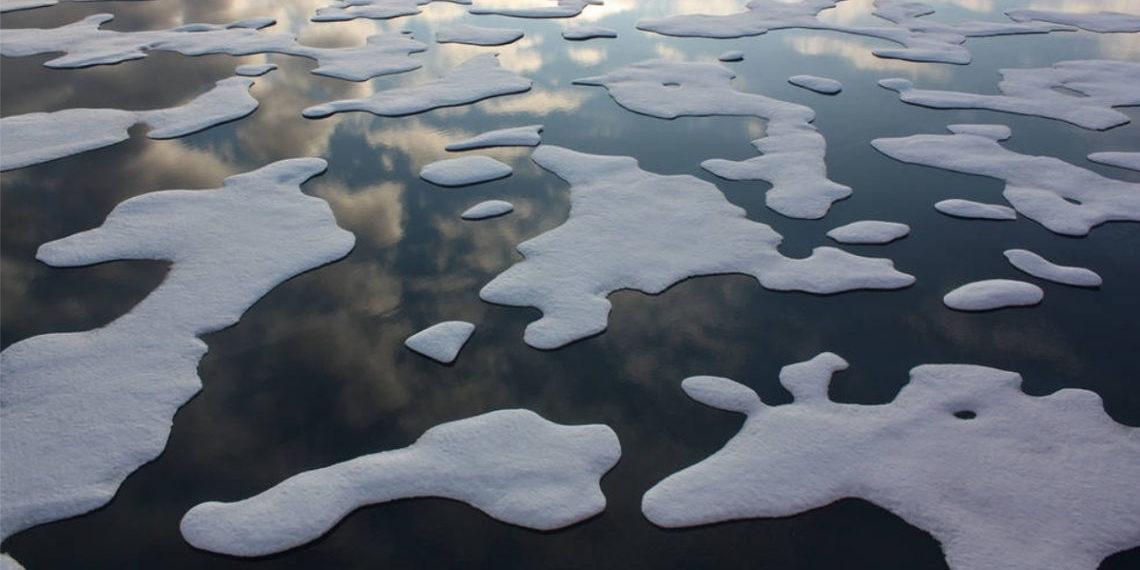 capa de hielo en el Ártico