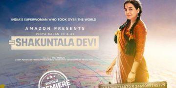 Imagen de promoción de la película Shakuntala Devi. Foto Instagram @balanvidya