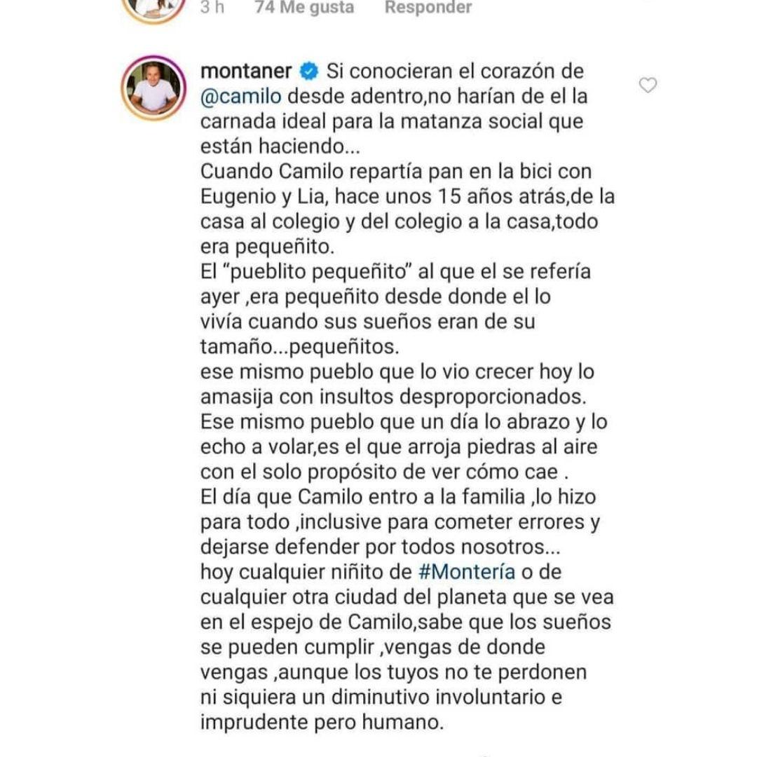 Comentario Ricardo Montaner 2020