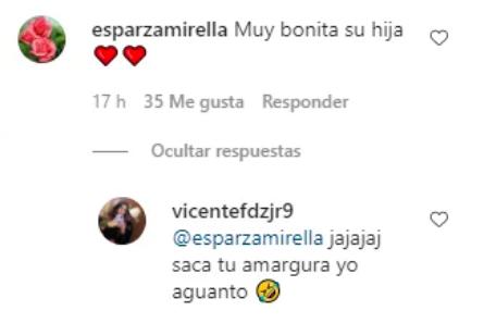 comentario Vicente Fernández Jr.