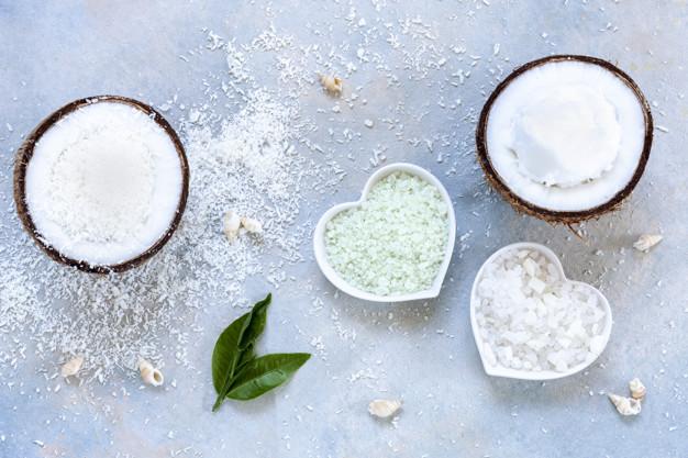 exfoliante de coco