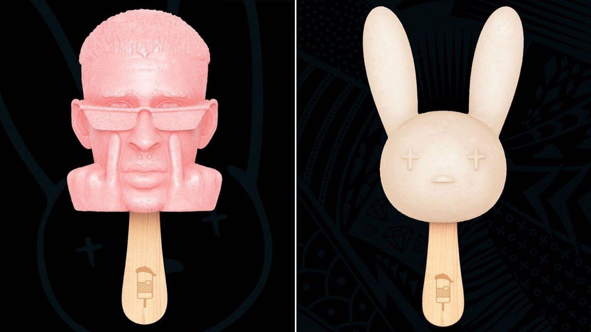 Paletas con la imagen de Bad Bunny