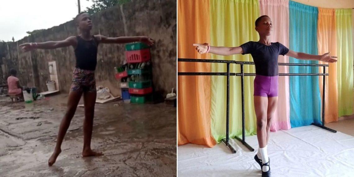 Niño nigeriano ballet