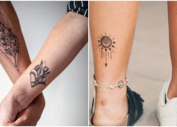 Tatuajes en pareja. Foto: Instagram: @atelier_muyuqi / @imaginetattoo1