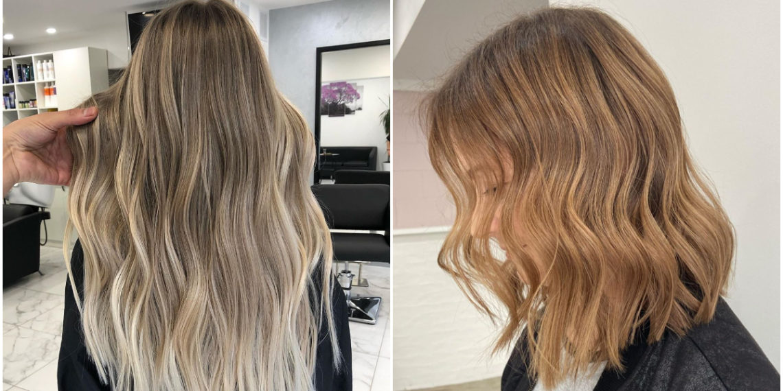 Ondas en el cabello. Foto: Instagram: @coloredbycaitlin / @hairbyjaimilea