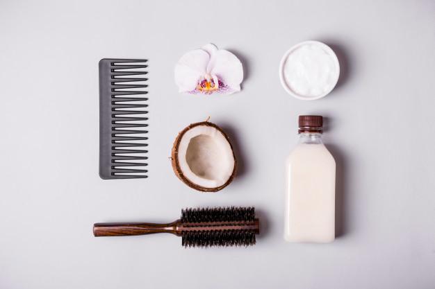 Aceite de coco para el cabello teñido