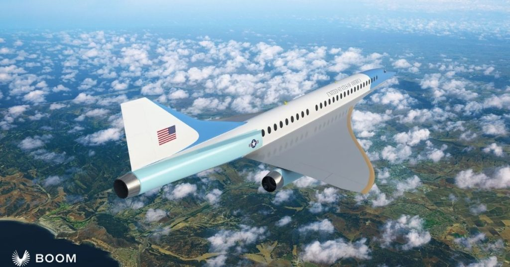 prototipo de avión supersónico Air Force One para el gobierno de Estados Unidos