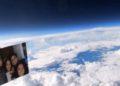 cámara en la estratósfera de la Tierra