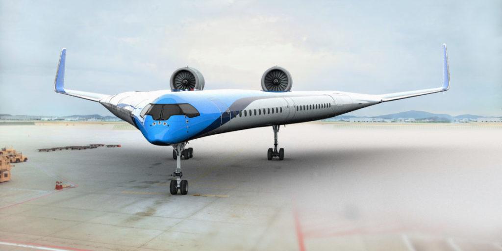 avión futurista Flying-V