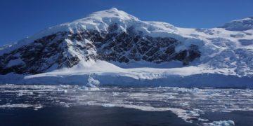 Glaciares en la Antártida.