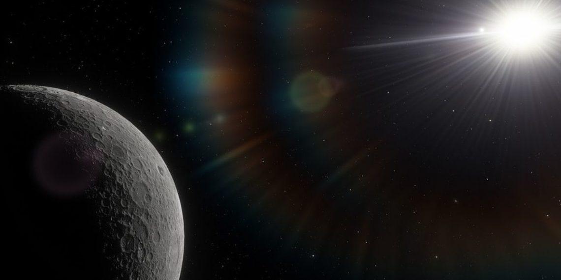 radiación en la Luna