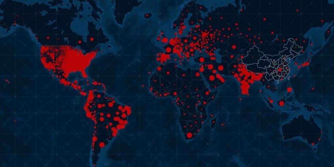 El mundo superó los 40 millones de contagios de coronavirus en medio del temor de nuevas oleadas. Foto: Universidad Johns Hopkins