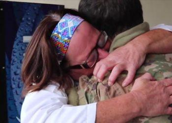 soldado reencuentro madre