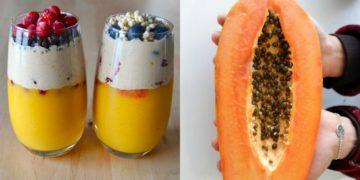 Recetas de batidos con papaya saludables para desayunar