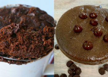 Receta casera de brownie en taza al microondas