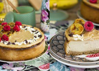 Receta de cheesecake fácil con sabor a banana