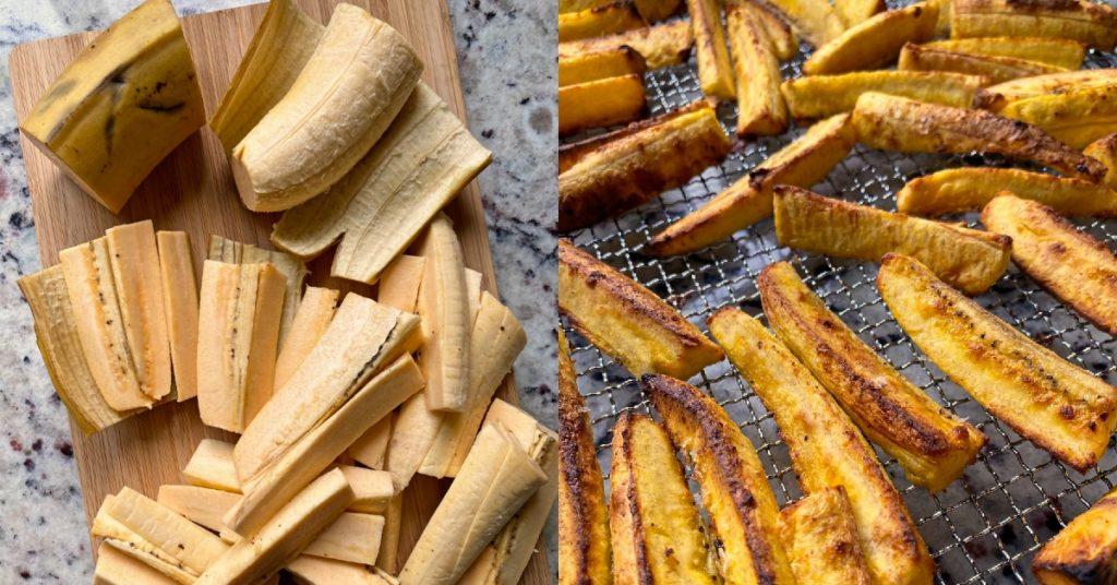 Plátanos con ajo y plátano