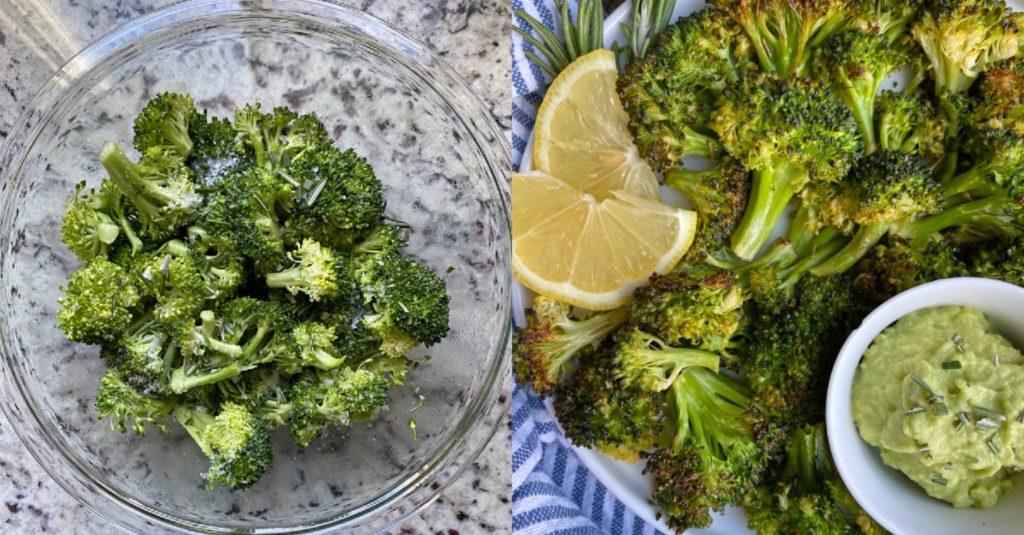Brócoli asado con romero