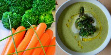 Crema de brócoli saludable sin lácteos